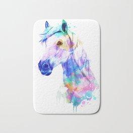 Horse Watercolor, Horse Print, Watercolor Print, Watercolor Animal, Horse Painting, Horse Gift Print Bath Mat