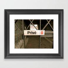 Prive Framed Art Print