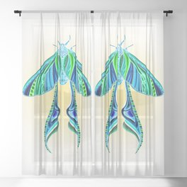 EtEHtH Moth (Inverted) Sheer Curtain