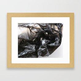 black plastic 02 Framed Art Print