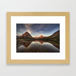 Many Glacier Zen Framed Art Print