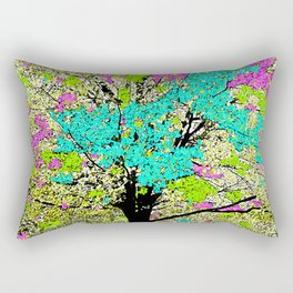 TREES PINK AND GREEN ABSTRACT Rectangular Pillow