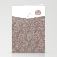 knitting Stationery Cards featuring Knitting experience by Julia Kisselmann