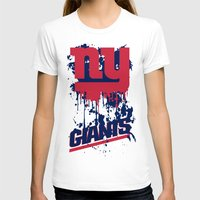 giants T-shirts featuring ny giants design 2 by Dan Solo Galleries
