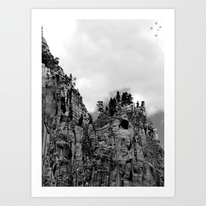 Cliffs of Zion Art Print