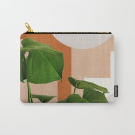 Abstract shapes art, Tropical leaves, Plant, Mid century modern art Carry-All Pouch
