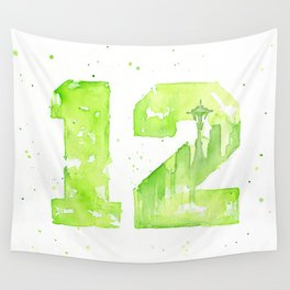 12th Man Seattle Art Wall Tapestry