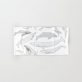 Whales of the world Hand & Bath Towel