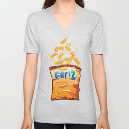 Cheese Curls : Junkies Collection Unisex V-Neck