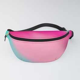 Artistic abstract pink aqua teal watercolor brushstrokes Fanny Pack
