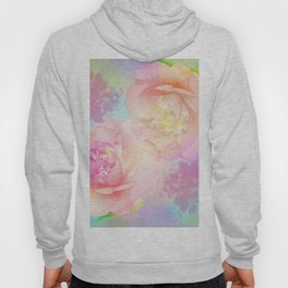 Romantic Camellia's and Lillies with a pastel background Hoody
