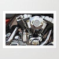 harley Art Prints featuring Harley  by Marieken