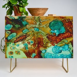 flora beginnings Abstract Credenza