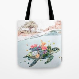 Coral Turtle • Save the Planet Tote Bag