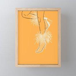 Feather Boots Framed Mini Art Print