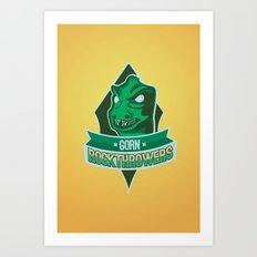 Gorn Rockthrowers Art Print
