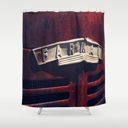 Rusted Farmall Tractor Shower Curtain