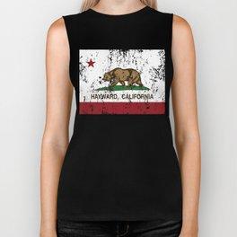 Hayward California Republic Flag Distressed Biker Tank
