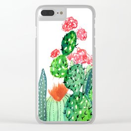 A Prickly Bunch 4 Clear iPhone Case