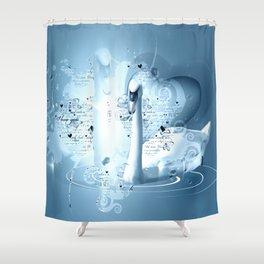 Schwanenpaar Shower Curtain