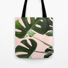 Monstera x Pink Tote Bag