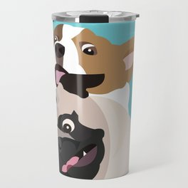 Pug and Corgi BFFs Travel Mug