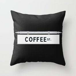 Coffee St. Throw Pillow