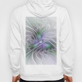 Abstract Floral Fractal Art Hoody