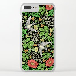 Dandelions and Swifts Clear iPhone Case