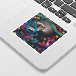 Skull and Felt 3 Sticker