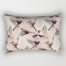 Sparrow Flight Rectangular Pillow