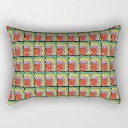 pattern orange yellow green Rectangular Pillow