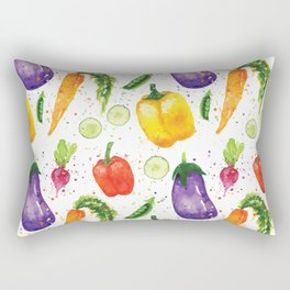 Very Veggie Pattern Rectangular Pillow