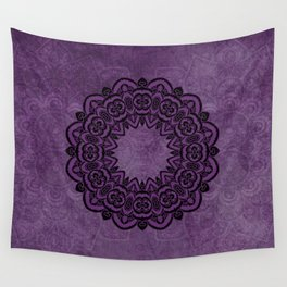 Circle in Purple Wall Tapestry