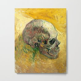 Skull by Vincent van Gogh, 1887 Metal Print