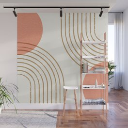 Sun Arch Double - Coral Wall Mural