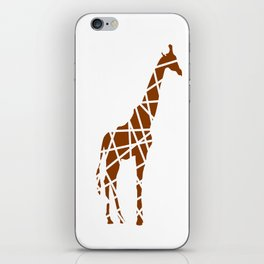 Animals Illustration - Giraffe iPhone Skin