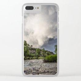 Mountain Rain - Storm Brews Over San Juan River near Pagosa Springs Colorado Clear iPhone Case