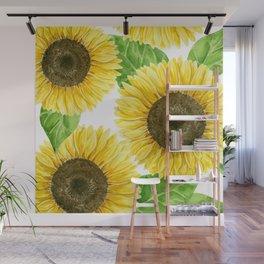Sunflowers watercolor Wall Mural