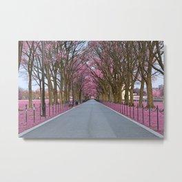 Pink Mall Promenade Metal Print