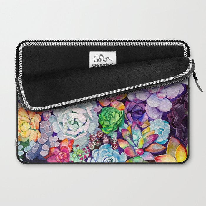 Junk Garden Ideas 2018 Edition: Succulent Garden Laptop Sleeve By Maiautumndesign