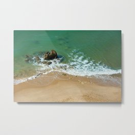 Rock in the Atlantic Ocean Metal Print