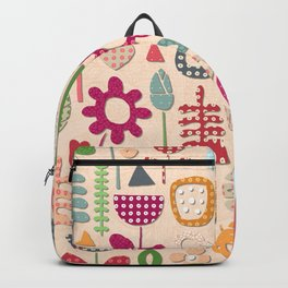 paper cut flowers peach Backpack