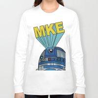 milwaukee Long Sleeve T-shirts featuring Milwaukee: R2D2 MKE by Amanda Iglinski