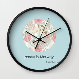Peace is the Way Wall Clock