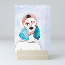 Lizzy - Red Hair, Black Lips Mini Art Print