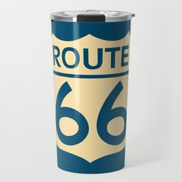Travel USA sign of Route 66 label. American road icon. Travel Mug