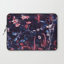 Cobalt And Carmine Bold Night Floral Laptop Sleeve