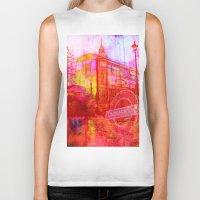 london Biker Tanks featuring LONDON by Ganech joe