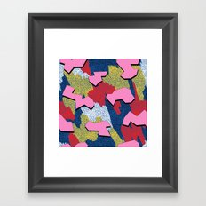 Memphis Pattern - Primary Framed Art Print